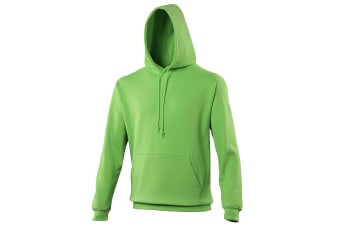 Awdis Unisex College Hooded Sweatshirt / Hoodie (Lime Green) (L)
