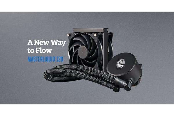 Coolermaster MasterLiquid 120 CPU Cooler, 120mm Radiator, Dual Chambers Design, 120mm Air Balance Fan *Natively AM4 Support,
