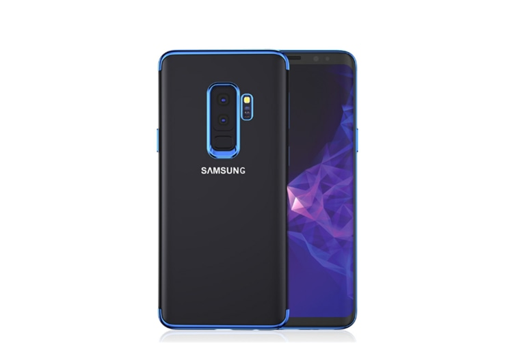 Soft Transparent Tpu Anti-Scratch Phone Case For Samsung Galaxy Blue Samsung J6 2018