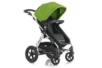 Pouch 2 IN 1 BABY TODDLER PRAM STROLLER JOGGER ALUMINIUM WITH BASSINET green colour