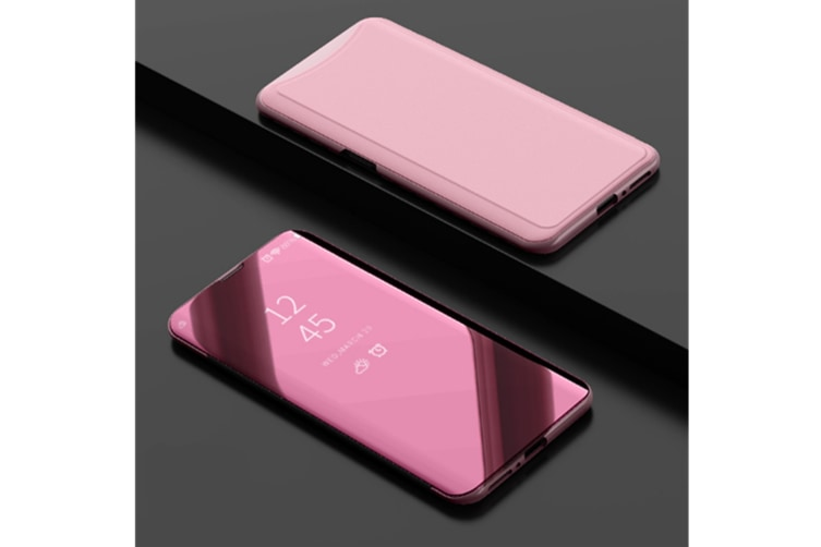 Mirror Cover Electroplate Clear Smart Kickstand For Oppo Series Rose Gold Oppo A71