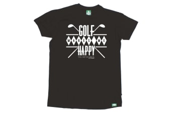 Out Of Bounds Golf Tee - Golf Makes Me Happy Mens T-Shirt