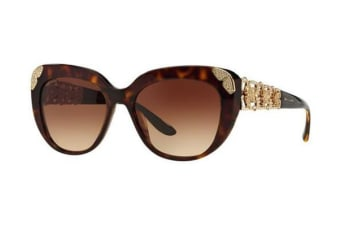 Bvlgari BV8162 55mm - Dark Havana (Brown Shaded lens) Womens Sunglasses