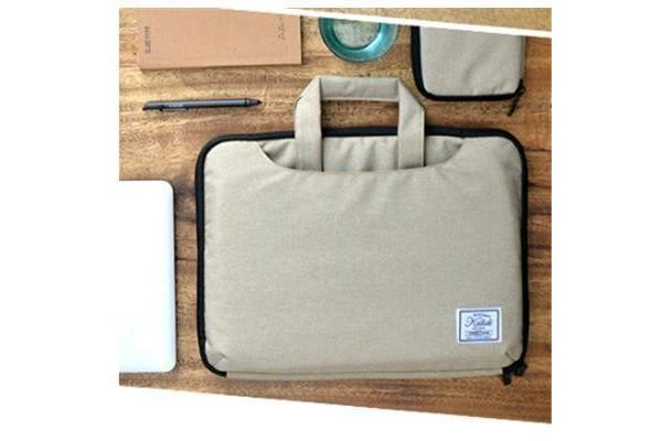 "Colour Pack Casual Series 15.6"" Notebook Laptop Multi-Style Carry Bag ( Khaki Brown ) with extra"
