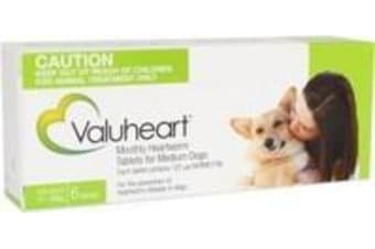 Valuheart Heartworm Tablets for Medium Dogs 11-20 kg - 6 Pack - Green