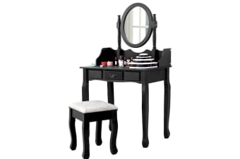 Levede Dressing Table Stool Mirrors Jewellery Cabinet Tables 3 Drawers Organizer