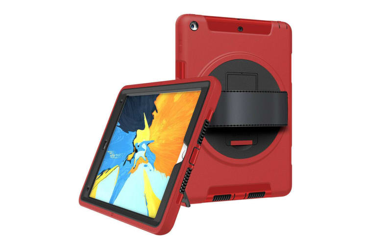 Shockproof Military Heavy Duty Case Cover For iPad Air-Red