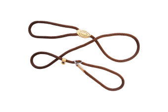 Dog & Co Supersoft Rope Dog Walking Slip Lead (Brown) (8mm x 150cm)