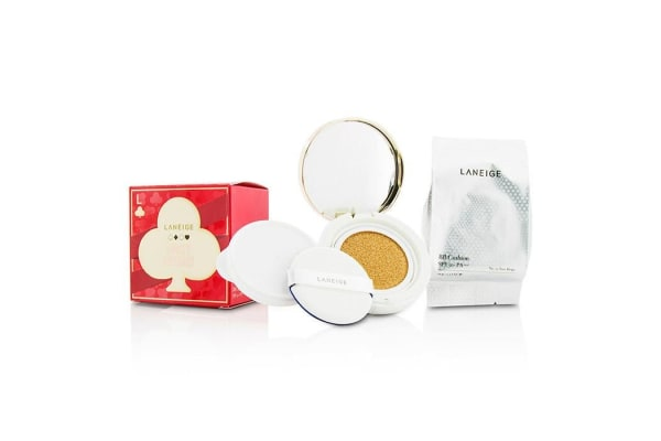 Laneige BB Cushion Foundation SPF 50 With Extra Refill - # No. 13 True Beige (Lucky Holiday Collection) (2x15g/0.5oz)