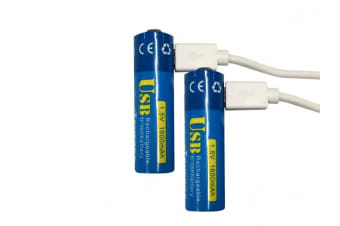 SONIQ CT-Energy E5 Rechargeable AA Lithium-Ion Battery USB (2 Pack)