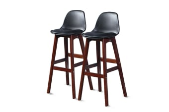 4x Beech Wood Bar Stool Wooden Barstool Dining Chairs Kitchen Counter