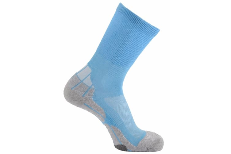 Horizon Unisex Coolmax Hiker Socks (Sky/Grey/Cream) (3.5-6 UK)