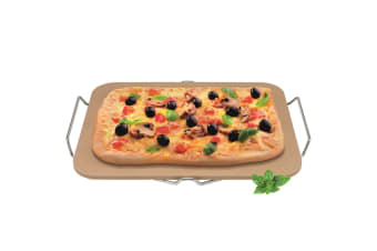 Avanti Pizza Baking Stone With Rack 30 X 38cm