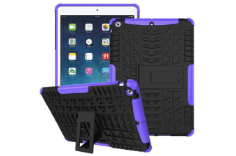 Heavy Duty Shockproof Case Cover Apple iPad 7th 10.2 2019-Purple