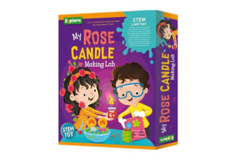 Explore Stem Medium Educational Toy My Rose Candle Making Lab for Kids/Child 6y+
