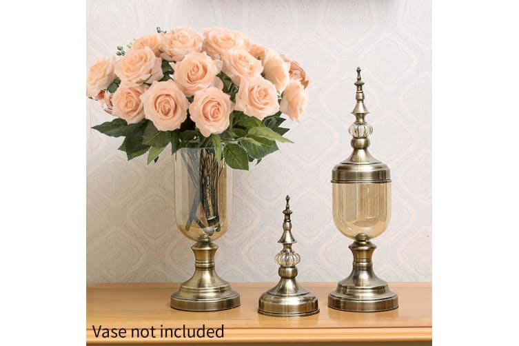 SOGA 5pcs Artificial Silk Flower Fake Rose Bouquet Table Decor Champion