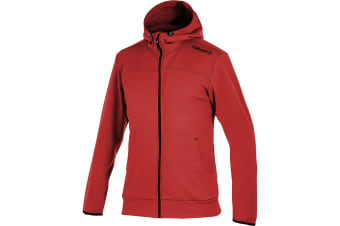Craft Mens Leisure Athletic Full Zip Hoodie Jacket (Red)