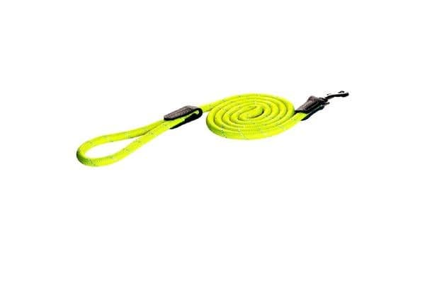 Rogz Rope Dog Lead Yellow - Small