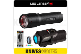 New LED LENSER Genuine P7 Flashlight 450 Lumens Torch & Intelligent Filter