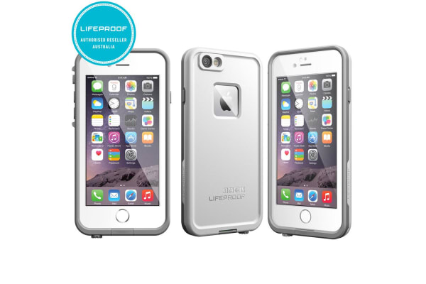 sale retailer 35dc4 9d332 Lifeproof Fre White Tough Case Cover Waterproof Shockproof for Apple iPhone  6/6s