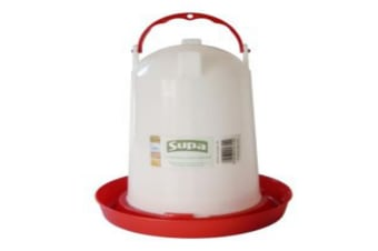 Supa Poultry Drinker (White/Red)