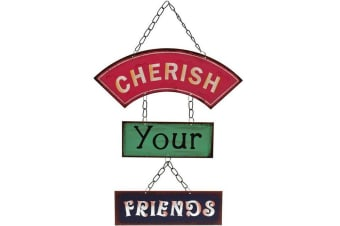 Something Different Cherish Your Friends Metal Sign (Multicoloured) (One Size)