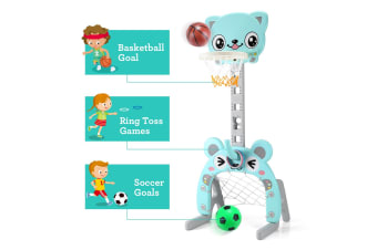 3-in-1 Basketball Football Ring Goal Game for Kids