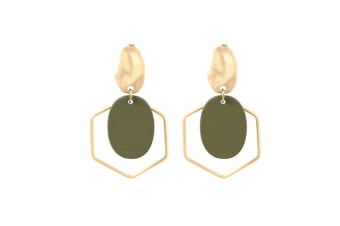 Pendants Female Earrings Geometry Shape Women Girls Ear Studs Jewelry Gift Green