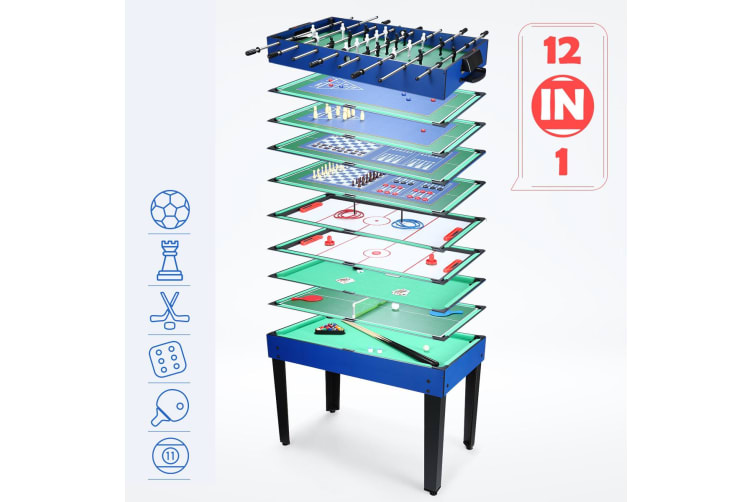12-in-1 Switchable Family Board Game Table Game