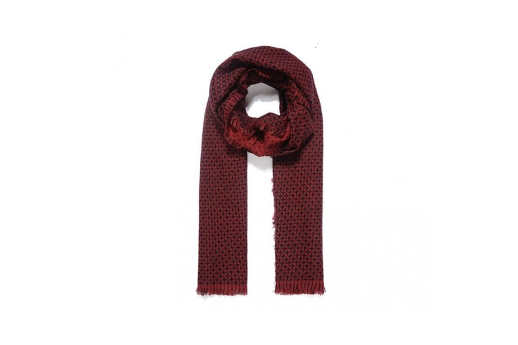 Intrigue Womens/Ladies Reversible Knitted Scarf (Red) (One Size)