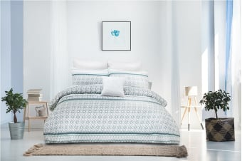 Ardor Boudoir Gemma Embossed Quilt Cover Set (King)