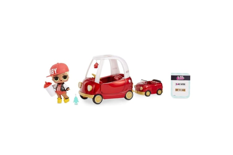 LOL Surprise Furniture Cozy Coupe Playset w/Swag/Car/Sticker/Fashion/Bottle