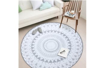 Nordic Style Round Decorative Carpet Area Rug Foot Door Hanging Basket Mat - 3 80*80Cm