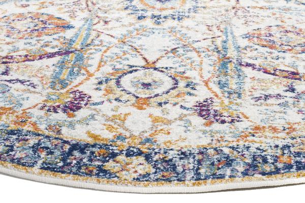 Peacock Ivory Transitional Rug 240x240cm