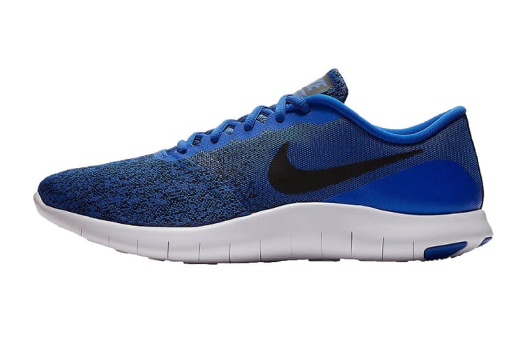 Nike Men's Flex Contact Running Shoes (Racer Blue/Black/White, Size 9 US)