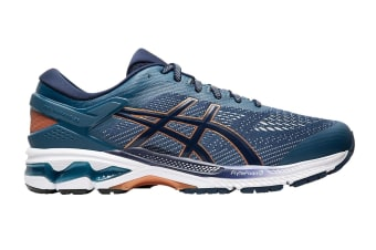 ASICS Men's Gel-Kayano 26 Running Shoe (Grand Shark/Peacoat)