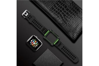 For Apple Watch Series 4 44mm Armour Watch Strap  Green Band Protective Cover