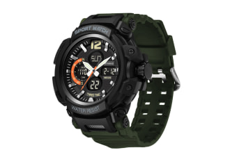 Men'S Sports Watch Multifunctional Waterproof Electronic Watch Green