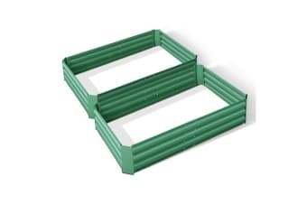 Green Fingers Set of 2 120 x 90cm Raised Garden Bed (Green)