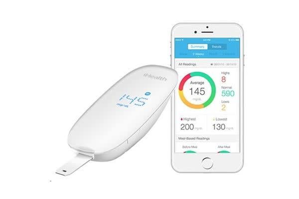 iHealth Smart Glucose  Monitoring System BG5 Track glucose levels wherever your phone is