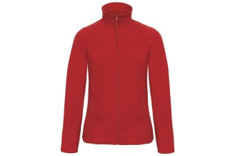 B&C Collection Womens/Ladies ID 501 Microfleece Jacket (Red) (2XL)