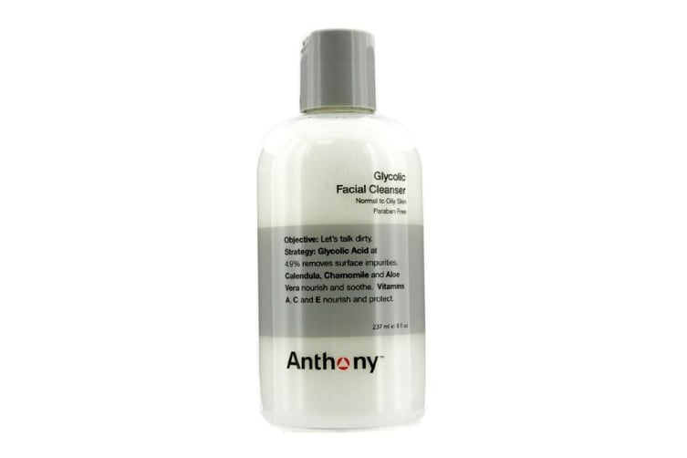 Anthony Logistics For Men Glycolic Facial Cleanser - For Normal/ Oily Skin 237ml
