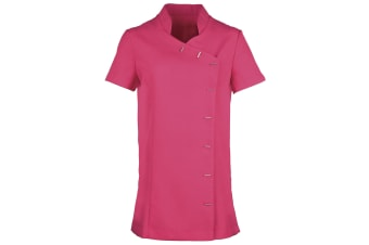Premier Womens/Ladies *Orchid* Tunic / Health Beauty & Spa / Workwear (Pack of 2) (Hot Pink) (6)