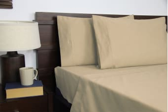 Apartmento Micro Flannel Sheet Set Taupe (Queen)