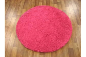 Pack of 3 Freckles Round Shag Rugs Pink
