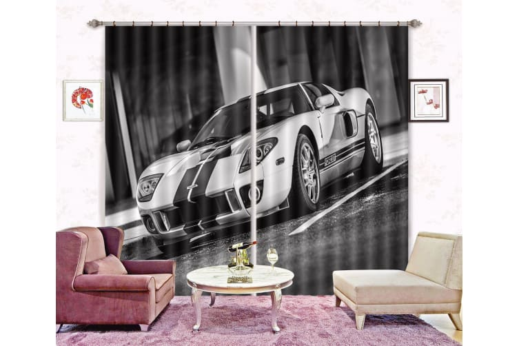 3D Sports Car 380 Curtains Drapes, 264cmx160cm(WxH) 104''x 63''