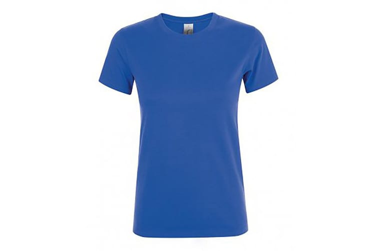 SOLS Womens/Ladies Regent Short Sleeve T-Shirt (Royal) (S)