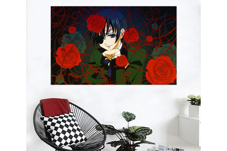 3D Black Butler 187 Anime Wall Stickers Self-adhesive Vinyl, 50cm x 30cm(19.7'' x 11.8'') (WxH)