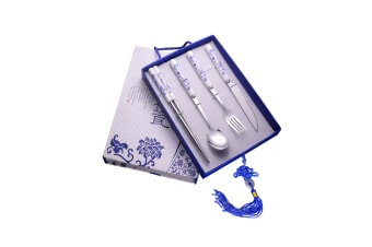 Stainless Steel Flatware Set,Chinese Blue And White Porcelain Tableware Set - 1