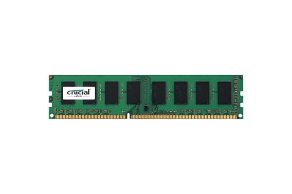 Crucial 4GB DDR3L 1600 MT/s (PC3L-12800) CL11 Unbuffered UDIMM 240pin 1.35V/1.5V Single Ranked
